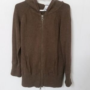Old Navy Womens Long-Sleeve Hooded Zip-up Sweater